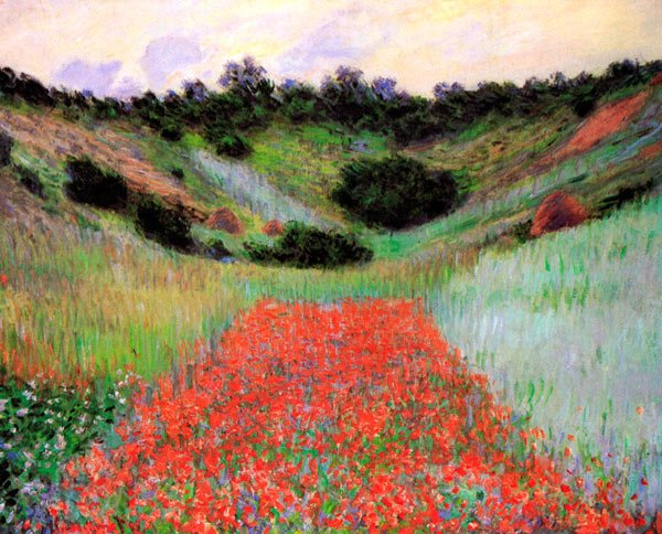 Monet Landscape Field Poppy Field of Flowers...