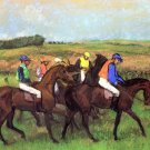 At the Race Track 1883 horses equestrian canvas art print by Edgar Degas