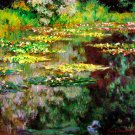Sea Rose Pond flowers garden water Landscape canvas art print by Claude Monet