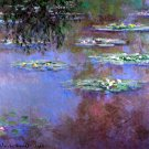 Sea Roses III flowers garden water Landscape canvas art print by Claude Monet