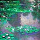 Sea Roses, Water Landscape flowers garden canvas art print by Claude Monet