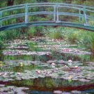 The Japanese Footbridge flowers water landscape canvas art print by Claude Monet