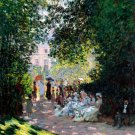 The Parc Monceau 1878 garden flower landscape canvas art print by Claude Monet