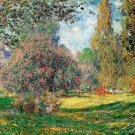 The Park garden landscape canvas art print by Claude Monet