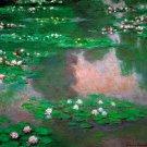 The Water Lillie flower landscape canvas art print by Claude Monet