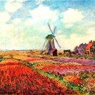 Tulips of Holland flowers landscape canvas art print by Claude Monet