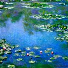 Water Lilies water landscape flower canvas art print by Claude Monet
