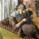 At the Milliner's 1881 woman canvas art print by Edgar Degas
