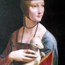 Lady Ermine Die Dame Christian canvas art print by Leonardo da Vinci