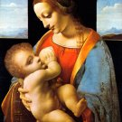 Madonna Litta religion Christian canvas art print by Leonardo da Vinci