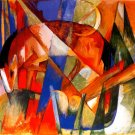 Mythical Beast II Horse 1913 equestrian domestic animal farm landscape canvas art print Franz Marc