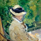 Madame Manet Suzanne Leenhoff at Bellevue 1880 woman portrait canvas art print by Edouard Manet