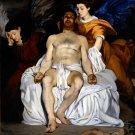 The Dead Christ Angels religious Christian canvas art print by Manet