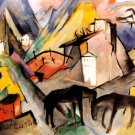 The Poor Province of Tyrol 1913 horses equestrian canvas art print by Franz Marc