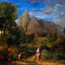 Mercury and Battus landscape canvas art print by Jean-Francois Millet