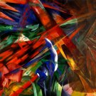Animal Fates 1913 wild woods forests landscape canvas art print by Franz Marc
