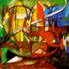 Gazelles 1913 wild animals woods forests landscape canvas art print by Franz Marc