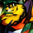 Tiger 1912 wild animal woods forests landscape canvas art print by Franz Marc