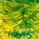 Lärchenbäumchen Young larch on a forest meadow 1908 landscape canvas art print by Franz Marc