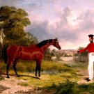A Soldier with an Officer's Charger 1839 horse equestrian canvas art print by J. F. Herring Sr
