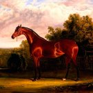 Negotiator a Bay Horse in a Landscape 1826 equestrian canvas art print by John F Herring Sr