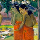 Three Tahitian Women 1896 canvas art print by Paul Gauguin