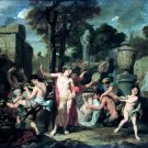 Het feest van Bacchus 1680 mythology canvas art print by Gerard or Gérard de Lairesse