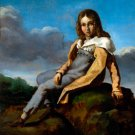 Alfred Dedreux as a Child ca 1820 boy portrait canvas art print by Théodore Géricault