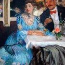Chez Mouquin portrait woman man canvas art print by William James Glackens