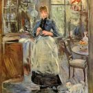 In Dining Room 1875 woman canvas art print by Berthe Morisot