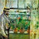 Eugène Manet auf der Isle of Wight 1875 man water landscape canvas art print by Berthe Morisot