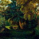 George Sand's Garden at Nohant ca 1840s landscape park canvas art print by  Eugène Delacroix