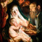 The Holy Family with Shepherds Christian canvas art print by Jordaens