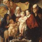 The Holy Family Saint Anne Young Baptist canvas art print by Jordaens