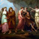 Telemachus and the Nymphs of Calypso canvas art print by Angelika Kauffmann
