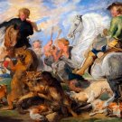 Copy after Rubens's Wolf and Fox Hunt ca 1826 animals canvas art print by Sir Edwin Henry Landseer
