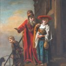 Abraham Dismissing Hagar and Ishmael Christian canvas art print Maes
