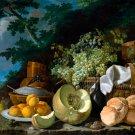 The Afternoon Meal La Merienda ca 1772 still life canvas art print by Luis Egidio Melendez