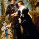 Rubens Wife Helena Fourment and Their Child 1630 portrait canvas art print by Peter Paul  Rubens