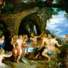 The Feast of Achelous ca 1615 women men canvas art print by Peter Paul Rubens