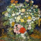 Bouquet of Flowers in a Vase 1890 still life canvas art print by Vincent van Gogh