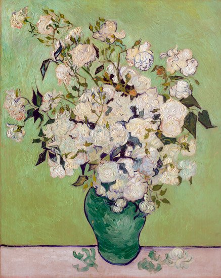 Roses 1890 still life flowers garden canvas art print by Vincent van Gogh