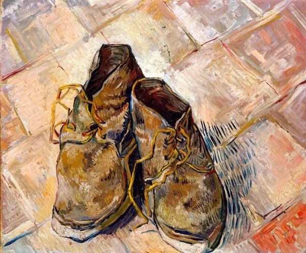 Shoes 1888 canvas art print by Vincent van Gogh