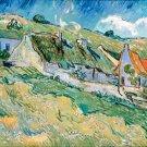 Thatched Cottages 1890 landscape country houses canvas art print by Vincent van Gogh