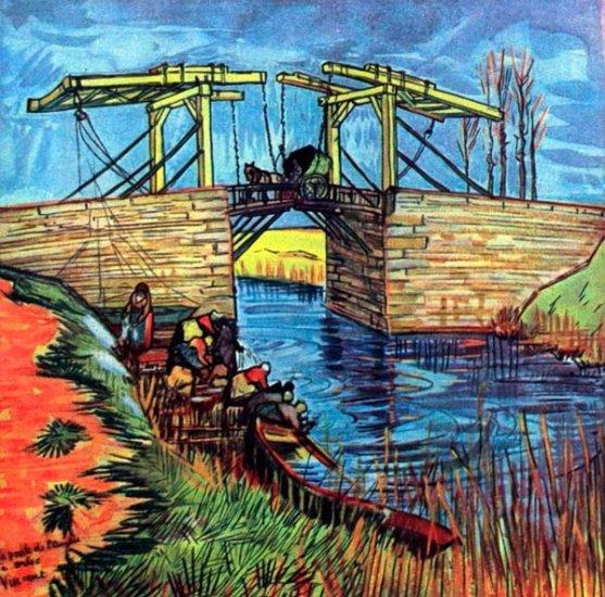 The English Bridge water river landscape canvas art print by Vincent van Gogh