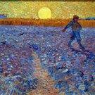 The Sower 1888 peasant farm landscape canvas art print by Vincent van Gogh