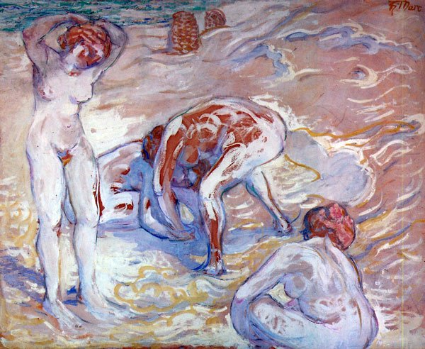 Bathing Women canvas art print by Franz Marc