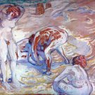 Bathing Women canvas art print by Franz Marc
