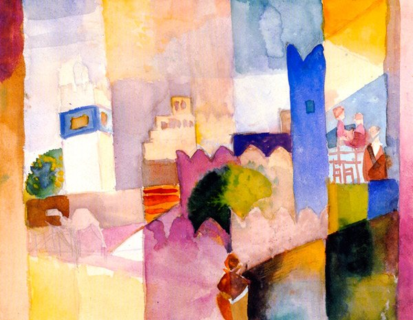 Cairo Scene cityscape canvas art print by Franz Marc