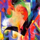Broken Forms I canvas art print by Franz Marc
